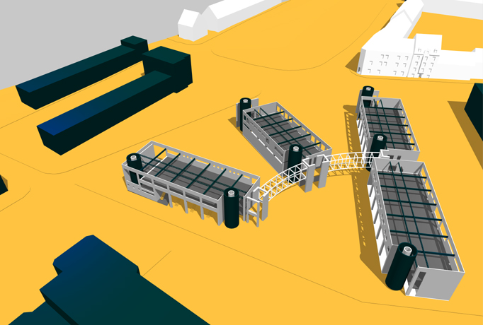 f r die bauorganistationshaus bung habe ich das 3d gel ndemodell ben tzt um die. Black Bedroom Furniture Sets. Home Design Ideas